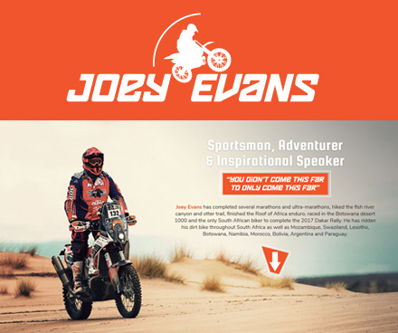 Joey Evans Sportsman Adventurer and Inspirational Speaker